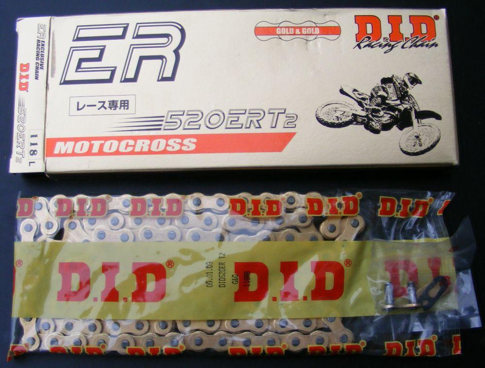 Kette DID 520 NZ 118 Glieder offen Clipschloß STAHL Rennkette Racing verstärkt