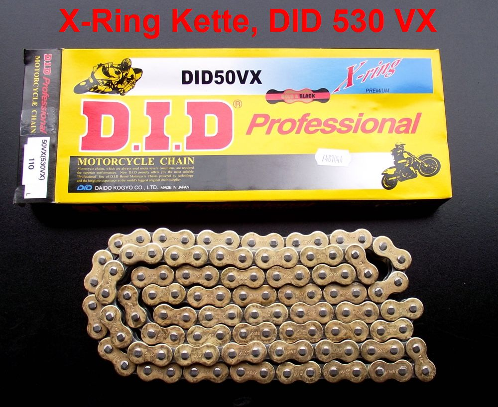 Catena O Ring Ox Ring.X Ring Chain Did 530 Vx Did530vx 50vx 108 Links Gold Endless