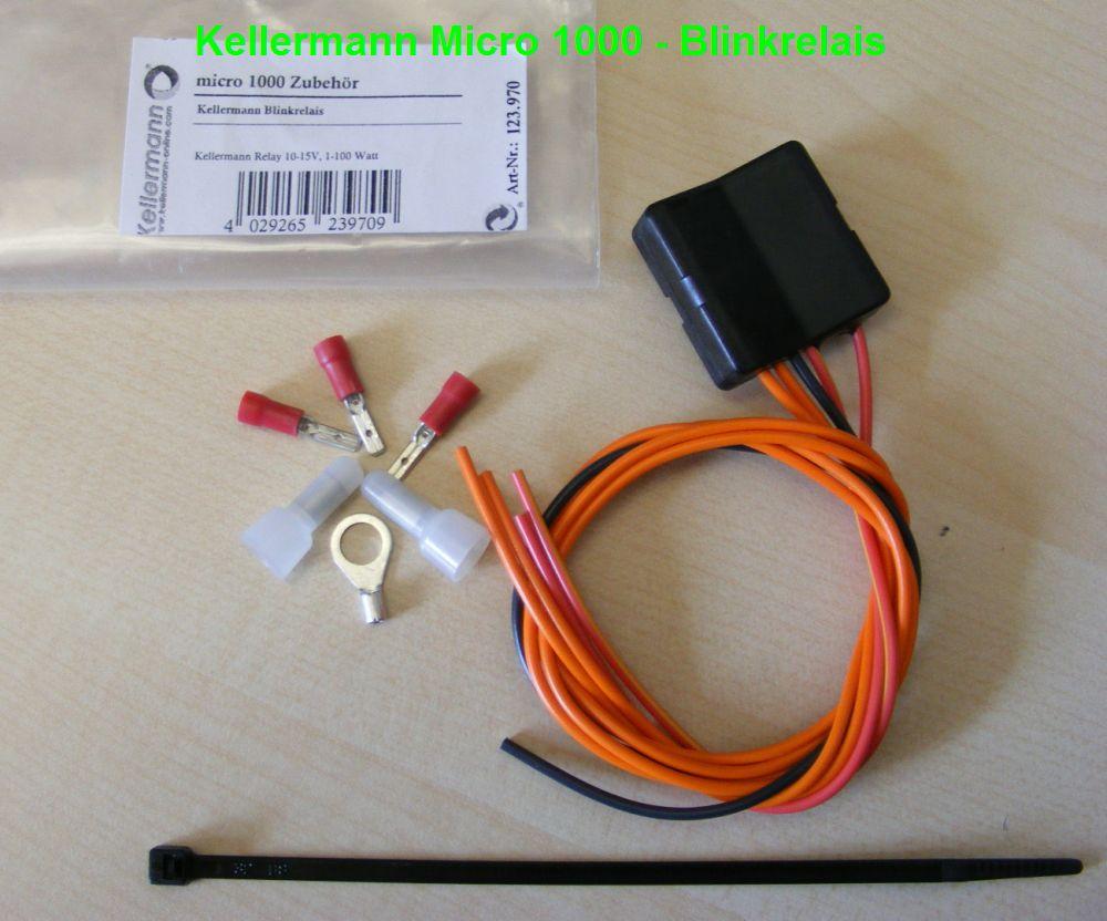 relay 123.970 Kellermann Micro 1000 LED Blinkrelais R2 universell