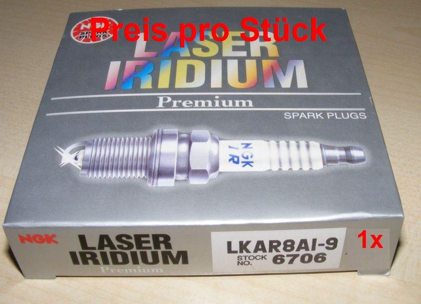 NGK 2-LKAR8AI-9~ Laser Iridium Spark Plugs 6706