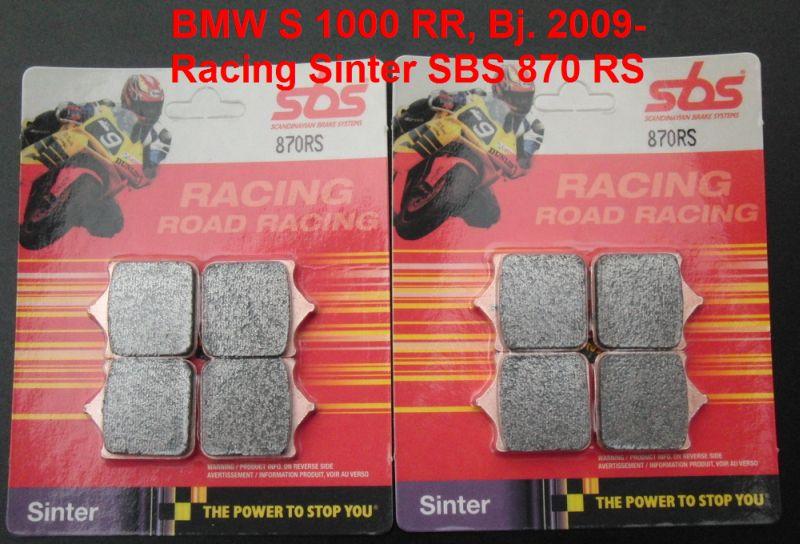 brake pads race 2x SBS 870 RS Sinter Racing Bremsbeläge BMW S 1000 RR S1000RR
